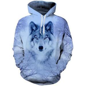 Wolf Animal Graphic 3d Printed Men Women Pullover Hoodies Sweatshirt ... b38ffd4a0