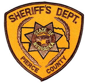 Details about PIERCE COUNTY NEBRASKA NE Police Sheriff Patch STATE SHAPE  OUTLINE VINTAGE OLD ~