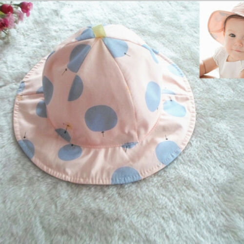 Summer Hat Sunscreen Protection Simple Dot Pattern Travel Cap For Baby Girl Z
