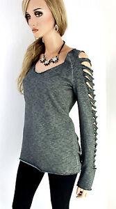 RINASCIMENTO-pullover-donna-misto-cotone-M-L-38-grigio-melange