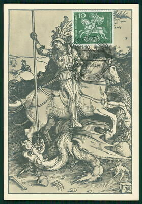 Brd Mk 1961 St. Georg Drache Pferd Dragon Horse Maximumkarte Maxi Card Mc Ei49 Attraktive Mode