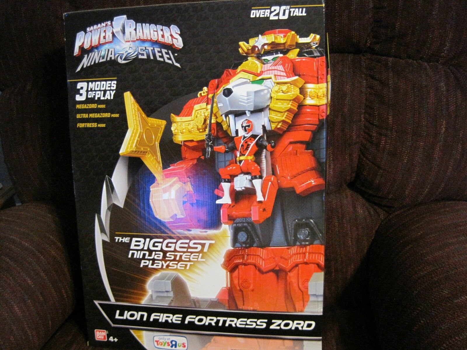 SABAN'S POWER RANGERS NINJA STEEL LION FIRE FORTRESS ZORD OVER 20