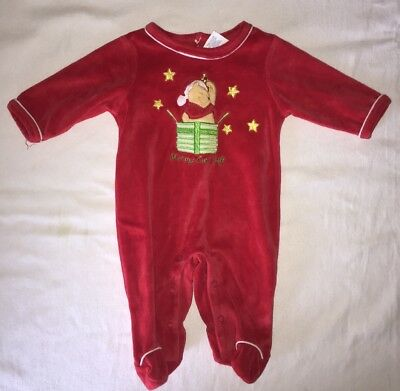 0-3 Months Boy/girl Long Sleeve One-piece Sleeper Wiinnie Pooh Christmas Holiday