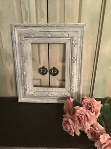 Antique Shabby White Wood Ornate Style Picture Frame