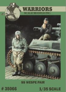 Warriors-1-35-WWII-German-SS-Wespe-2-Resin-Figures-Kit-35066