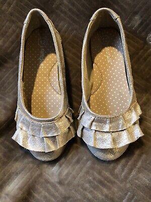 Jack Girls Gold Ballet Shoes Size