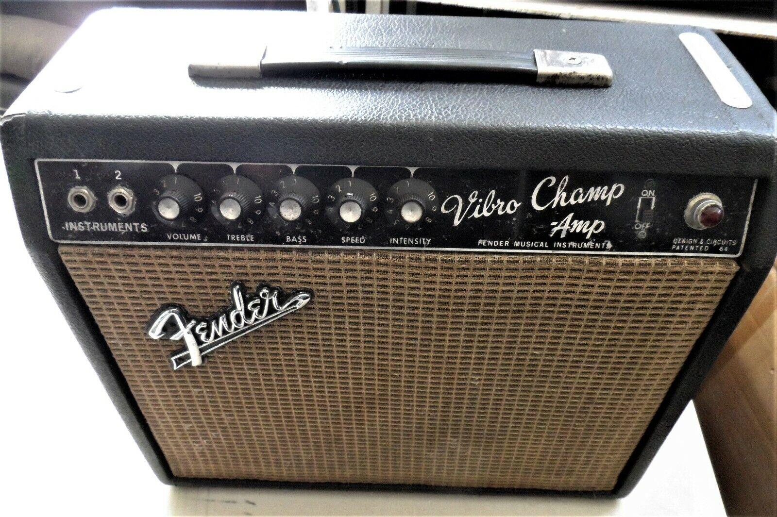 1967 Fender Vibro Champ Schwarzes Gesicht