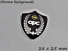 Opel OPC 3D Aufkleber- Abzeichen Set für Schlüssel, Handy, Chrom-Effekt