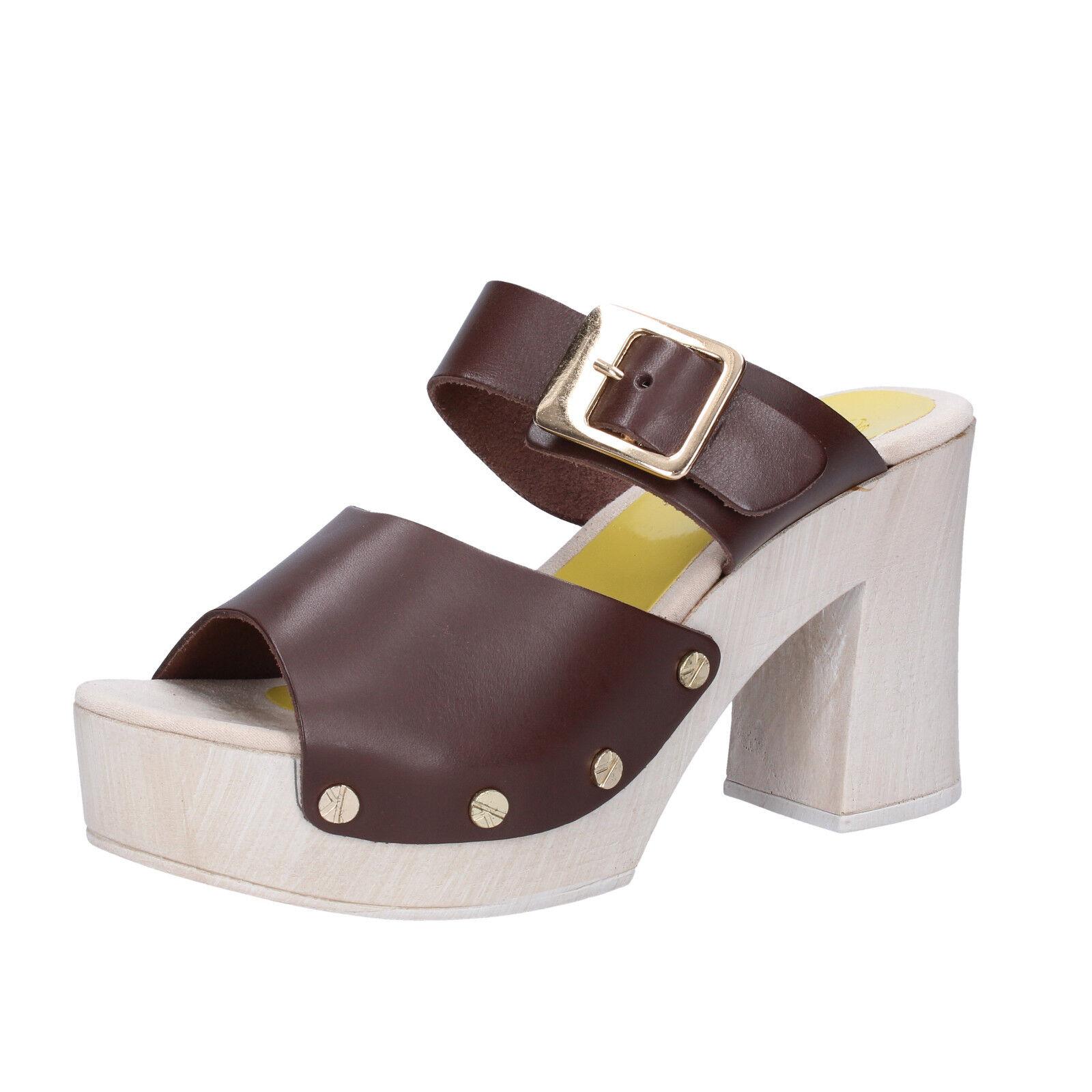 Scarpe donna SUKY SUKY pelle BRAND 38 EU sandali marrone pelle SUKY SUKY AB293 ... 596f70