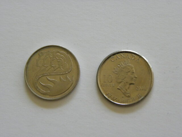 10 cents - Dime - Canadian coin - Canada - 2001 - Intl. Year of the Volunteer