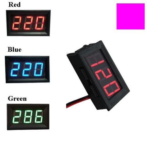 2 wire AC 70-500V LCD Voltmeter Spannungsmesser 220V 380V Industrial electricity