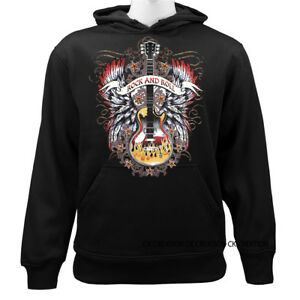 Rock-And-Roll-Guitar-Music-Insturment-Funny-Joke-Humor-Graphic-Pullover-Hoodie