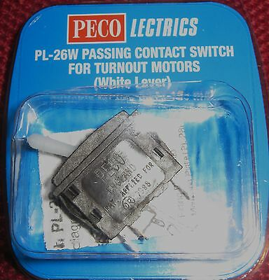 Discreto Peco Lectrics Passing Conctact Switch For Turnouts (white Lever) Pl-26w Quell Summer Thirst