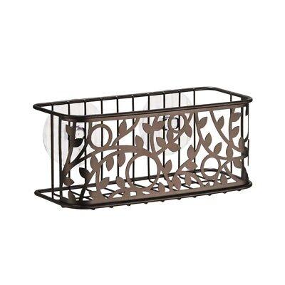 Interdesign #77511 Bronze Vine Suction Basket