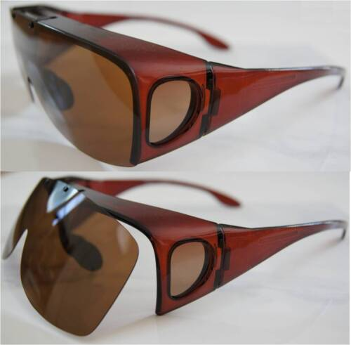 Andevan™ wide XL 100/% UV polarized cover over sunglasses w// flip up lenses