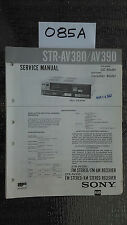 Sony str-av380 av390 Service Manual Original stereo tuner radio receiver repair