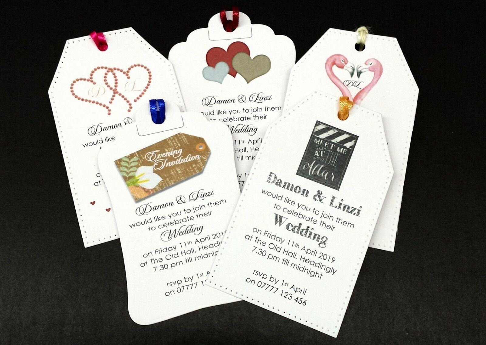 INVITI qualsiasi di nozze bagagli Tag qualsiasi INVITI Coloreeee della barra multifunzione-ogni occasione Gratuito Buste af15db