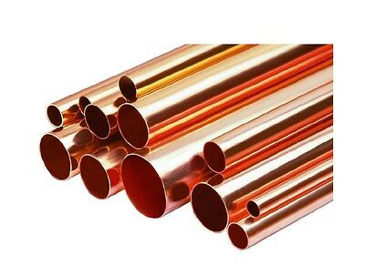 "1/2"" Diameter Type L Copper Pipe/Tube x 1' Long"