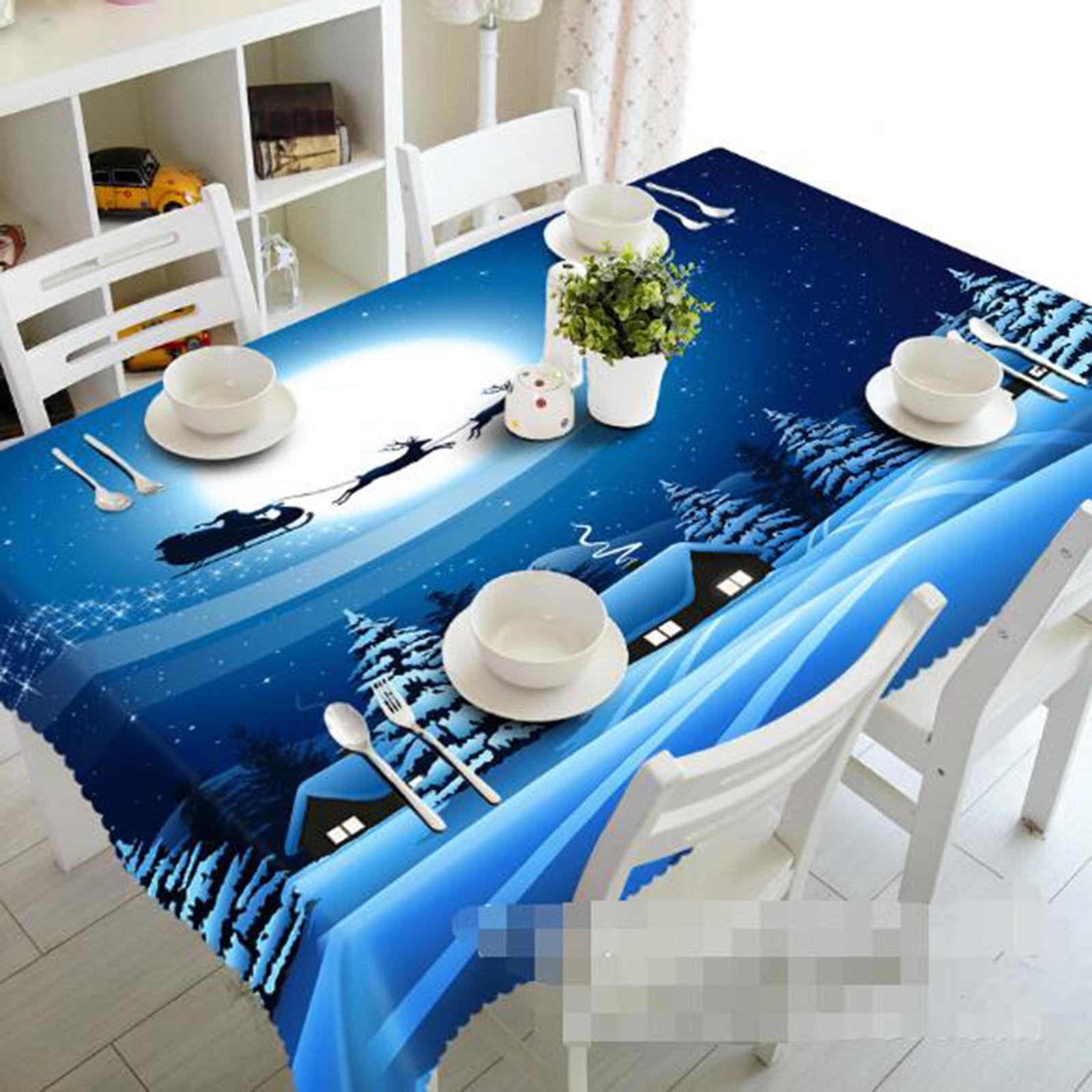 3D Lune Ciel 54 Nappe Table Cover Cloth fête d'anniversaire AJ papier peint Royaume-Uni Citron