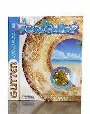 """48/"""" Gold PoolCandy Confetti Glitter Inflatable Tube"""