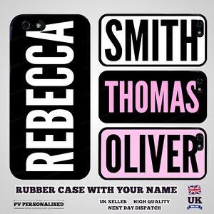 personalised custom your name rubber bumper case for apple iphone