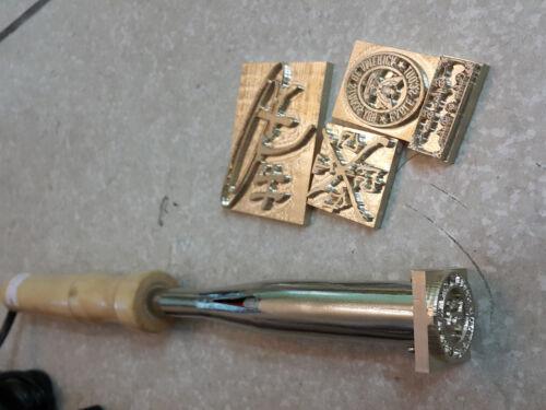 Custom LOGO made Brass stamp Leather Seal heat Stamp Embosser Iron food Wood