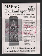 NORDHAUSEN, Werbung 1935, MABAG Maschinen-Apparatebau AG Tankanlagen