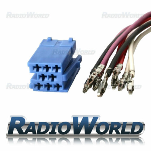 Azul 8 Pin Mini ISO Macho Terminal Block Conector Hembra reparación Kit Set