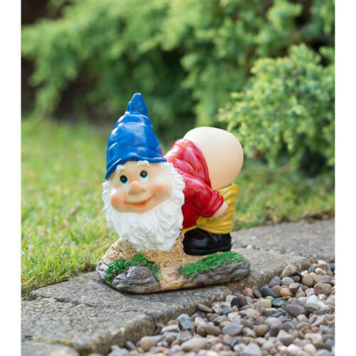 NUOVO mooning Gnome con energia solare ultra luminosa a LED Luce Giardino Decorazione
