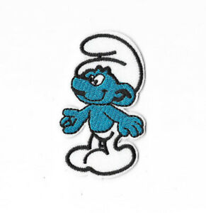 SMURFS-Iron-on-Sew-on-Patch-Embroidered-Badge-Cartoon-The-Smurfs-PT409