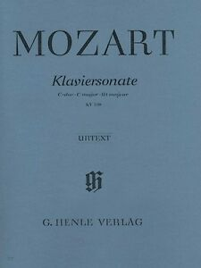 Details about Mozart Piano Sonata in C Major K330 300h Sheet Music Piano  Solo NEW 051480602