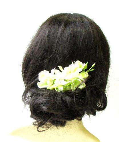 Hellgrün Glyzinie Haarkamm Fascinator Kopfstück Brautjungfer Blumenmuster Klemme