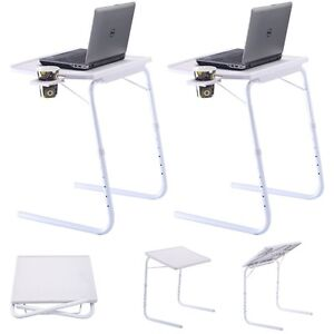 Surprising Details About 2Pcs Adjustable Pc Tv Laptop Computer Desk Tray Home Office With Cup Holder Download Free Architecture Designs Rallybritishbridgeorg