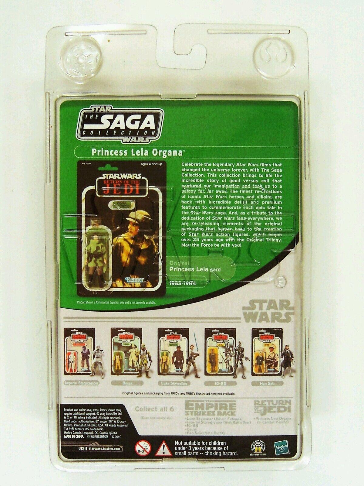 Figurine StarWars : Hasbro Star Wars Vintage Saga Séries Rotj Princesse Leia en Combat Poncho