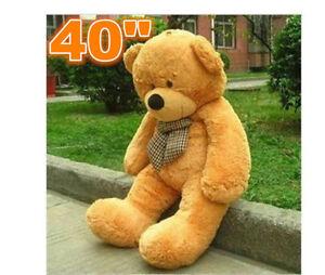"40''  HUGE GIANT CUTE ""light brown"" TEDDY BEAR PLUSH Stuffed Animals toys  gift"
