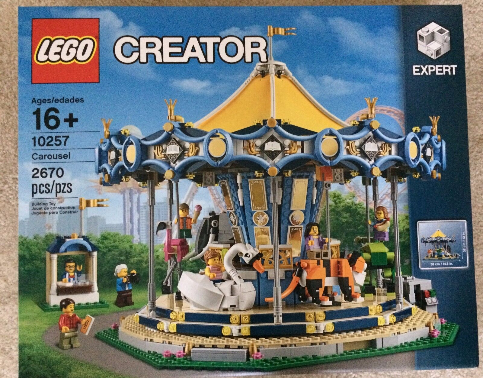 Lego Creator 10257 Carousel Brand New Sealed Toy  bluee Yellow