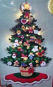 Bucilla CHRISTMAS TREE LIGHTED TABLETOP Felt 3-D Advent Calendar ...