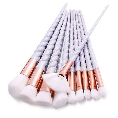 10Pc Makeup Unicorn Brushes Cosmetic Powder Foundation Make Up Brush Tool