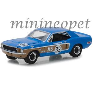 GREENLIGHT-13220-E-1968-FORD-MUSTANG-AS-33-1-64-DIECAST-JOHN-MCCOMB-BLUE