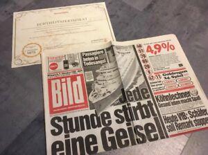 Details Zu Bildzeitung 9101985 Oktober 09101985 Geschenk 34 35 36 37 38 Geburtstag