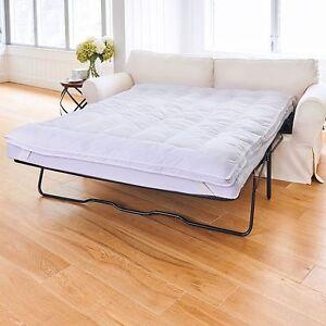 Details about Sleeper Sofa Pillow Top Mattress Topper Pad Premium Fiberfill  CHOOSE SIZE
