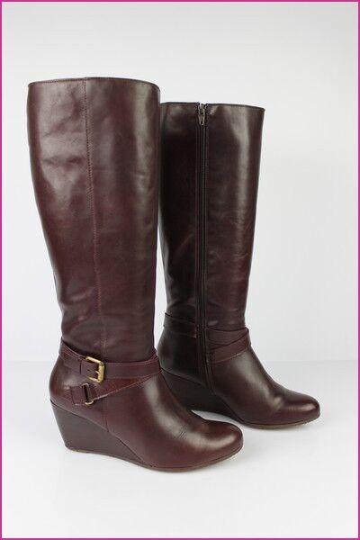 Zapatos especiales con descuento SAN MARINA Bottes à Talons Compensés Cuir Bordeaux T 40 TBE
