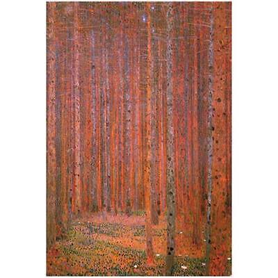 by Gustav Klimt 36x24 Museum Art Print Birch Trees Tannenwald Pine Forest