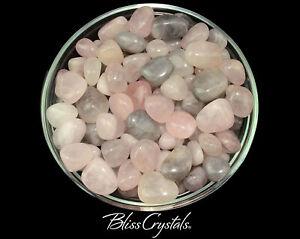 1//4 lb Bulk Lot Rose Quartz Tumbled Stone Crystal Healing Love Stone 4 oz