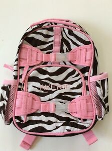 Pottery Barn Kids Mackenzie Pink Brown Zebra Mini
