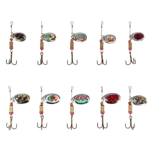 30 CUCCHIAINI 3-8g Esche Da Pesca Spinning Casting Acqua Dolce Hardbait Lure