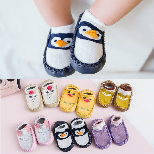 Newborn Baby Boy Girl Winter Warm Slipper Anti-slip Slipper Floor Shoes Socks