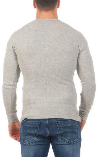Herren Thermo Unterhemd langarm warm Rippshirt angerauht Unterwäsche Winter 40-1