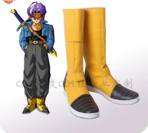 Dragon Ball Z Trunks Torankusu Yellow Shoes Cosplay Boots