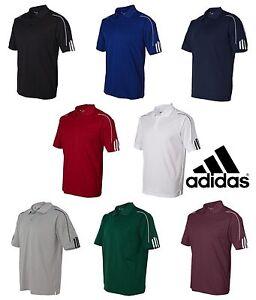 ADIDAS-GOLF-NEW-a76-Climalite-Mens-Size-S-3XL-Three-Stripes-Polo-Sport-Shirt